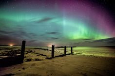 The Northern Lights, seen on the Isle of Lewis, in the Outer Hebrides, Scotland.