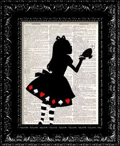 Alice In Wonderland Tea cup print:
