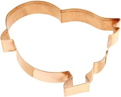 "Old River Road Chick Shape Cookie Cutter, Copper  5.25""l x 4.5""h"
