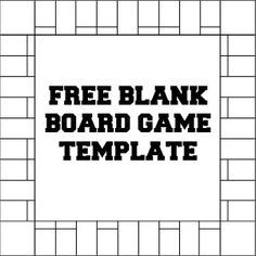Blank Board Game Template
