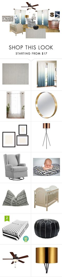 """Boy Nursery"" by bekahc83 on Polyvore featuring interior, interiors, interior design, home, home decor, interior decorating, Magical Thinking, Pottery Barn, Eddie Bauer and Ziggy"