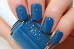 Awesome -- just found the color I'm getting on my toes tomorrow!               (Essie Hide and Go Chic (Spring Collection 2014) - medium blue creme)