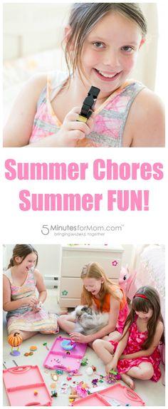Summer Chores + Summer Fun! Merry Maids Kid Ambassador www.merrymaids.com (sponsored)