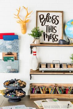 Keeping your workspace organized and on-trend is easy with the right storage!