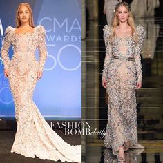 @beyonce dazzled at the @cma Awards in a @zuhairmuradofficial Spring 2016 jeweled gown.  Stunning!  #Beyonce #CMA #cmaawards #ZuhairMurad #celebritystyle #fashion #instastyle #instafashion #fashionbombdaily
