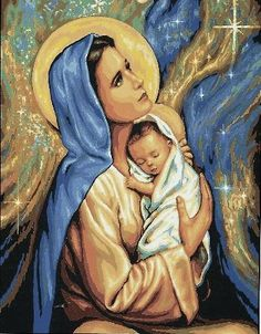 DIY Diamond Painting Cross Stitch Needlework Diamond Mosaic Diamond Embroidery Virgin Mary And Baby Pattern Hobbies Religion, Tapestry Kits, Mary And Jesus, Holding Baby, Jesus Pictures, Madonna And Child, Cross Paintings, Resin Paintings, Nature Paintings