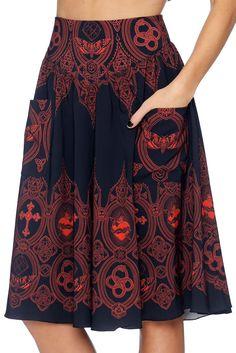 Invocation Yoke Midi Skirt - LIMITED (AU $99AUD) by BlackMilk Clothing