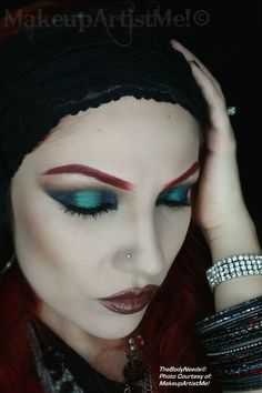 """""""Gypsy"""" by #model and #makeupartist #redznowhite aka #makeupartistme wearing #tbn's In the Navy, Nude, Juniper and Falling Stars in Blue Teal #vegan #leadfree #crueltyfree #mineral #eyeshadow #makeup #cosmetics #blush in Define Me and Chocolate Fantasy"""