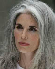 . gray hair, messy hair, eye makeup, style, silver hair, cheveux gris, hair treatments, long grey hair, natural beauty