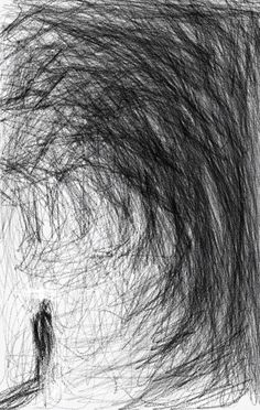 I Pad study, Wakefield artist Tim Burton.