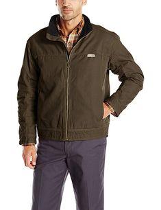 172e113e3 Wolverine Men's Porter Fleece Lined Suede Canvas Jacket Review Canvas  Jacket, Wolverine, Safety,