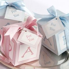 Block Themed Baby Shower Favors