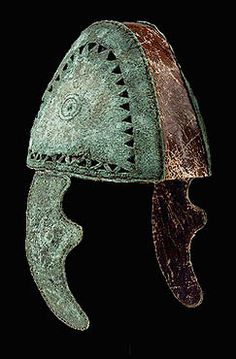 Bronze helmet from a grave in Tiryns. Mid-11th century BC.  Archaeological Museum, Nauplion. Hellenic Ministry of Culture/Archaeological Receipts Fund.
