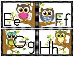 Alphabet Border: Owls