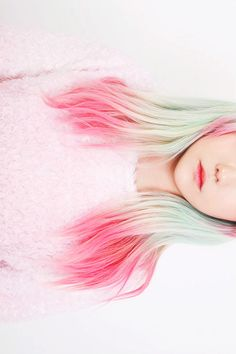 pink + mint