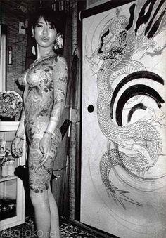 """akatako: """" from """"Tokyo Sex Underground"""" by Romain Slocombe """" Japanese Tattoo Women, Japanese Tattoo Art, Japanese Tattoo Designs, Yakuza Style Tattoo, Irezumi Tattoos, Full Body Tattoo, Body Art Tattoos, Tattoo Girls, Girl Tattoos"""