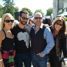 Just admire Cas Anvar can spend some excellent time to hang out with his group friends Hallie Lamber, Monique Moss and Jason Stuart being at TIFF 2016.