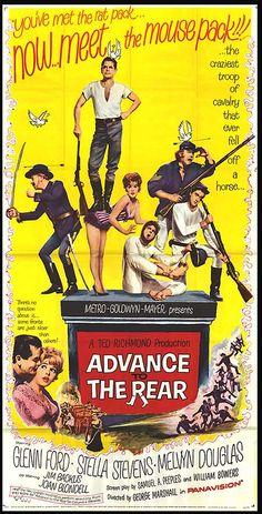 Advance to the Rear (1964)Stars: Glenn Ford, Stella Stevens, Melvyn Douglas, Jim Backus,  Joan Blondell, Alan Hale Jr., Jesse Pearson