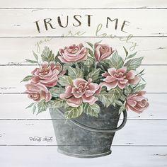 Trust Me Canvas Artwork by Cindy Jacobs Canvas Artwork, Canvas Frame, Canvas Art Prints, Canvas Wall Art, Decoupage Vintage, Decoupage Paper, Wood Pallet Art, Foto Transfer, Modern Farmhouse Decor