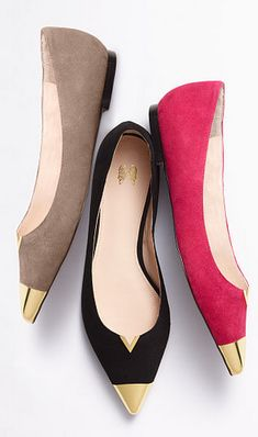 Pointed flats make me happy