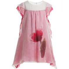 La Stupenderia Pink Silk & Swarovski Jewel Dress at Childrensalon.com