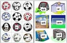 24 Page Download - 3 Ways to Play  - Soccer balls with onsets (consonant blends, 2 and 3 letter blends) match up to soccer nets ...   # Pinterest++ for iPad #