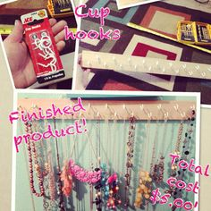 DIY necklace organizer!