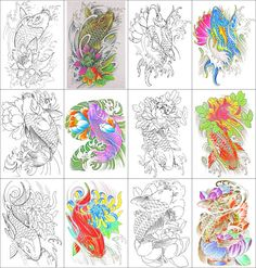 Koi Fish Coloring Book 24 Printable Coloring Pages