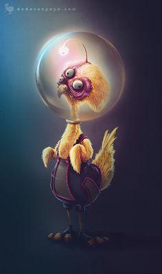 Chicken Alien on Behance
