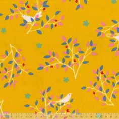 Japanese Import - Birds And Branches Yellow - blinds