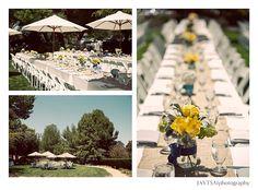 Rengstorff House, Mountain View, Outdoor wedding luncheon reception