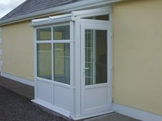 x UPVC lean to entrance porch built to meet your requirements. Top quality PVc and double glazing with high security lock options. Screened In Porch Diy, Side Porch, Glass Porch, Glass Roof, Porch Doors, Windows And Doors, Fibreglass Flat Roof, Upvc Porches, Porch Gable