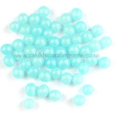 Turquoise Blue Pearlised Cake Dragees