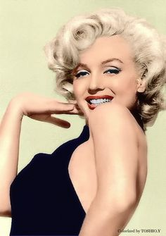 Marilyn Monroe, colourized by Tohisho.Y