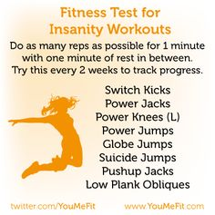Insanity Workout...love