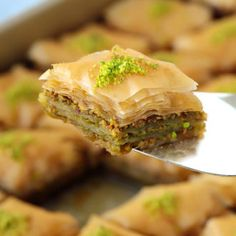 Thirty crisp layers of buttery phyllo and heaps of fragrant pistachios, combine to make an utterly delicious, light yet rich baklava that tastes like it came straight from a Turkish bakery. Plus recipe VIDEO included! Pistachio Baklava, Middle Eastern Desserts, Ghee Butter, Phyllo Dough, Arabic Food, Iftar, Food Videos, Food Processor Recipes, Dessert Recipes