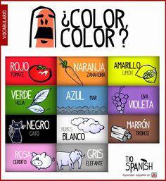 En Josefa hablamos español: Los Colores