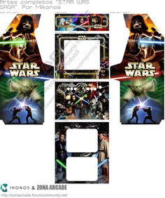 Diy Arcade Cabinet, Arcade Console, Street Fighter 2, King Of Fighters, Arcade Machine, Slot Machine, Paper Toys, Paper Crafts, Star Wars Video Games
