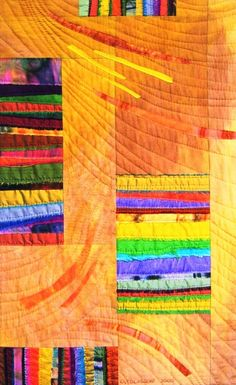 African textile art by Odette Tolksdorf: 'Tonal values do all the work....'!