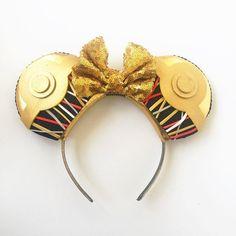 Star Wars C3PO Disney Inspired Ears, Star Wars Ears, Star Wars C3PO Mickey Ears…