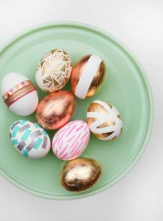 Pale metallic Easter eggs