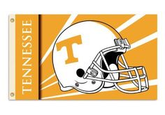 NCAA Tennessee Volunteers 3by5 Foot Flag with Grommets  Helmet Design * For more information, visit image link.