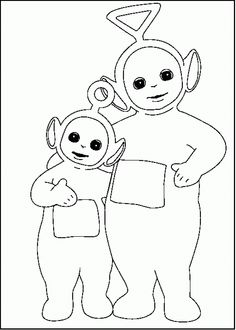 teletubbies tinky winky and po coloring picture for kids - Teletubbies Dipsy Coloring Pages