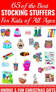 65 Stocking Stuffers for Kids Searching for cheap and useful Christmas gifts to fill your little ones stocking? This collection of unique fun and inexpensive ideas are perfect whether you have boys girls toddlers or tweens! Toddler Christmas Gifts, Inexpensive Christmas Gifts, Toddler Gifts, Kids Christmas, Christmas 2019, Inexpensive Stocking Stuffers, Stocking Stuffers For Boys, Christmas Stocking Stuffers, Kids Stockings