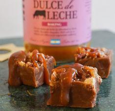 I den här fudgen har jag samlat två av mina favoritingredienser, Dulce de leche och pecannötter....