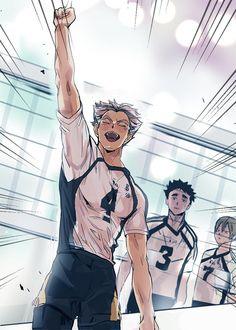 Haikyuu Bokuto, Bokuto Koutarou, Kuroo Tetsurou, Kuroken, Bokuaka, Haikyuu Fanart, Haikyuu Anime, Hottest Anime Characters, Haikyuu Characters