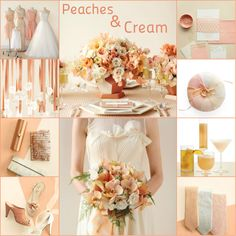 Peaches Cream Wedding Color Palette
