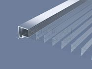 Aluminium U-Profil mit Tropfkante für 16 mm Platten