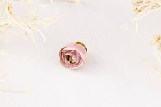 Ceramic Rose Pin, Ceramic gold Pin, Pink Jacket Pin, Ceramic Brooch Pin, Pink Gold Accessory, ceramic flower, Pink Flower, Flower Accessory