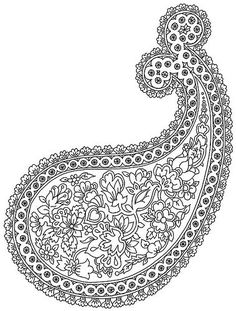 Paisley/use to create wall art canvas then paint in with sharpie or paint (using fine brush)
